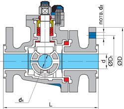 Схема крана серии КШХ для хлора