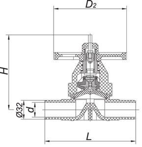 Клапаны мембранные химические серии ВДХ