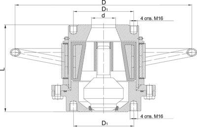 Клапан герметичный химический с магнитным приводом серии ВМХ