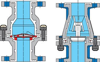 Клапаны и затворы обратные химические серии КОХ