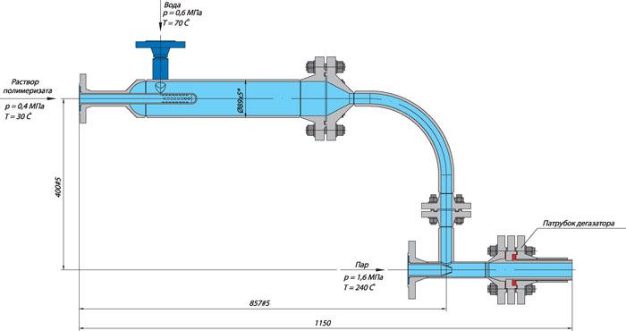Фланец вантуза с герметизирующей пробкой и фланцевой заглушкой