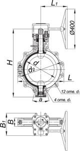Затворы дисковые химические серии ЗПХ